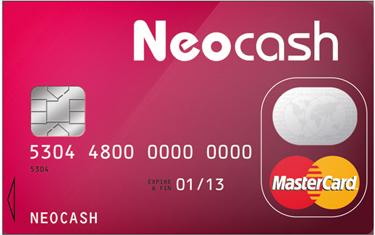 Neocash Carte de credit