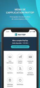 application-mobile-paytop-meilleure carte bancaire prépayée