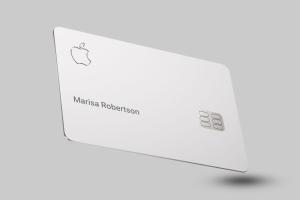 AppleCard chiffre en relief