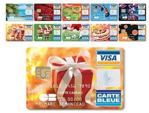 Carte bancaire cadeau prépayée visa