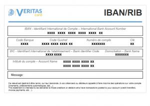 Carte bancaire prépayée avec RIB