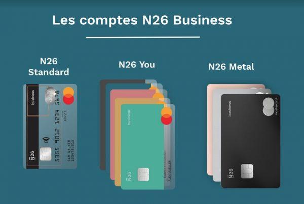 n26-business-cartes-N26 lance un compte bancaire auto-entrepreneur haut de gamme